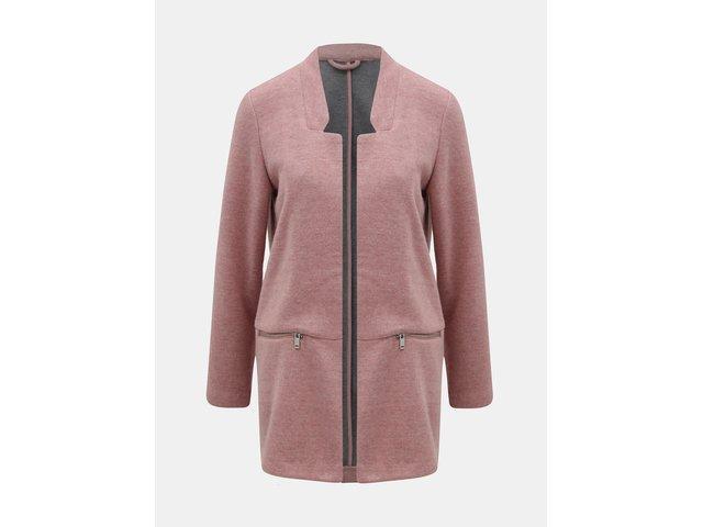 Růžový žíhaný lehký kabát TALLY WEiJL