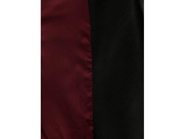 Černý koženkový krátký křivák TALLY WEiJL