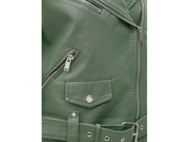 Zelený koženkový křivák VILA Jane