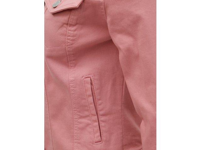 Růžová džínová bunda VERO MODA Hot