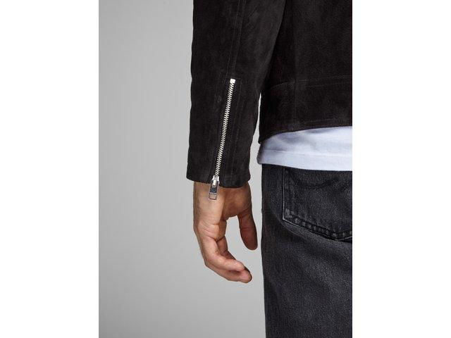 Černý kožený křivák Jack & Jones Dane