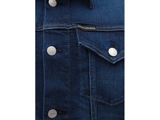 Tmavě modrá džínová bunda Calvin Klein Jeans