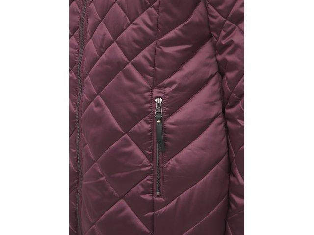 Fialový dámský prošívaný voděodpudivý zimní kabát LOAP Tency