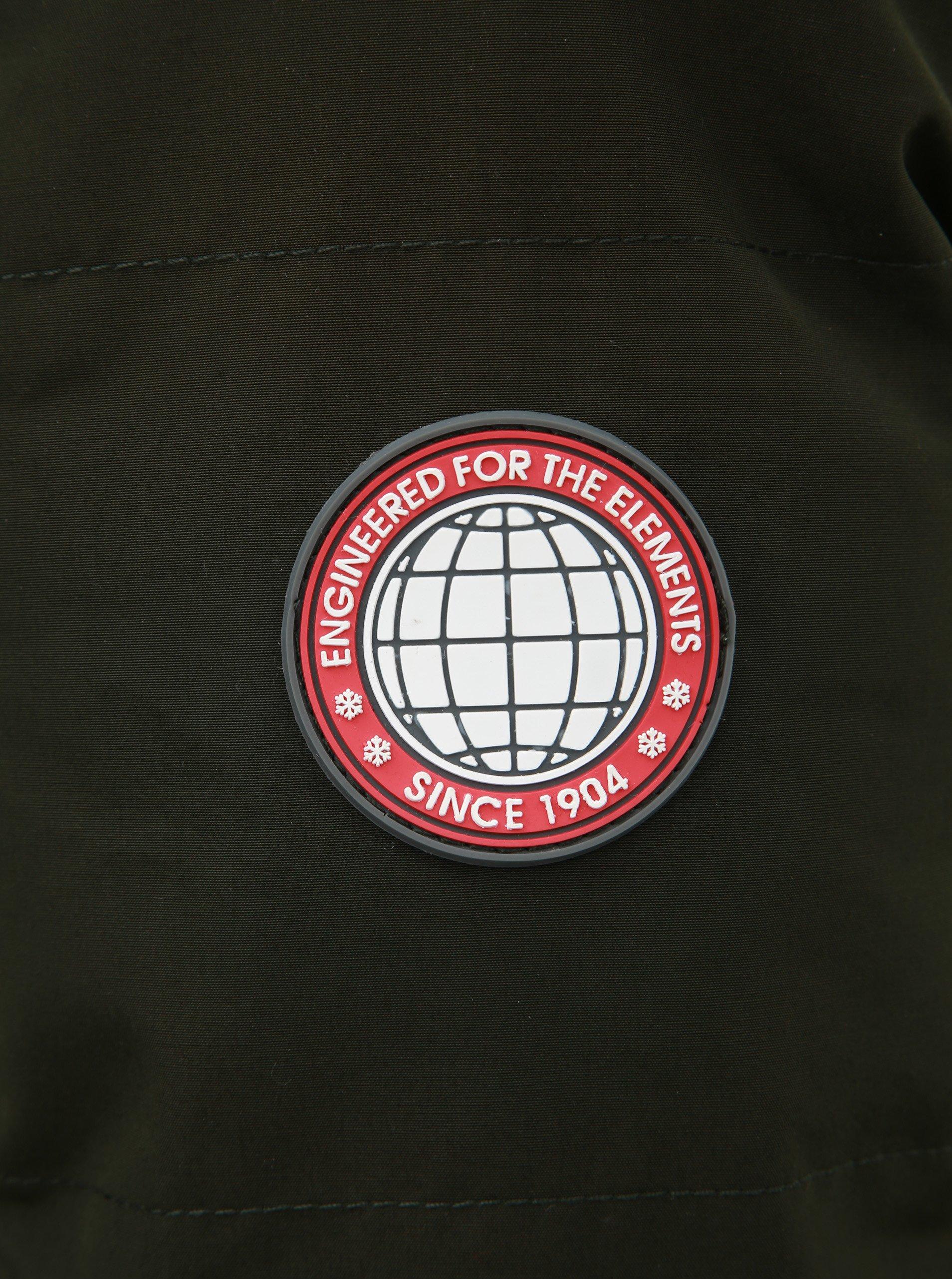 Kaki zimná bunda Burton Menswear London Cedar.