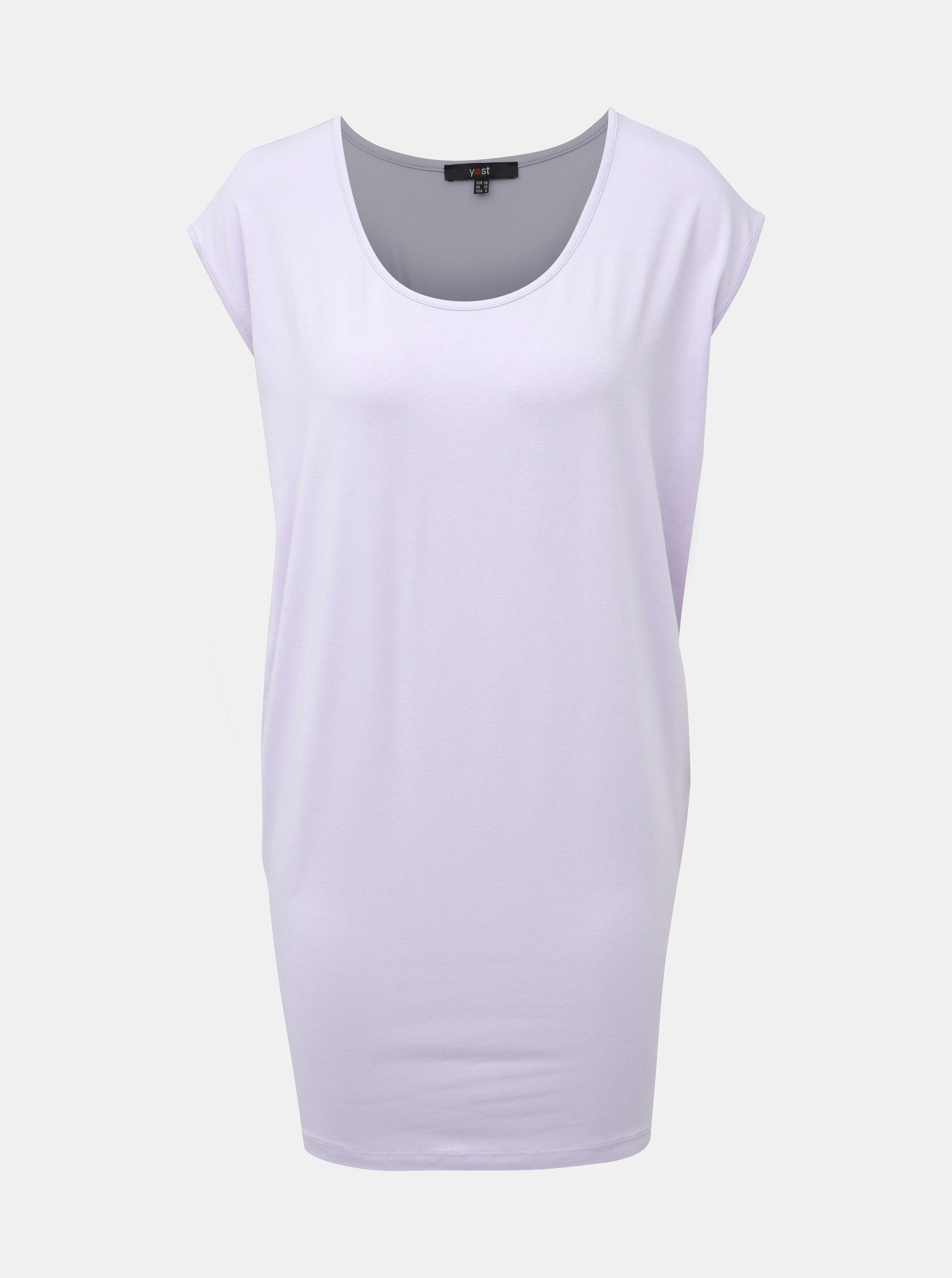 E-shop Světle fialové dlouhé tričko Yest