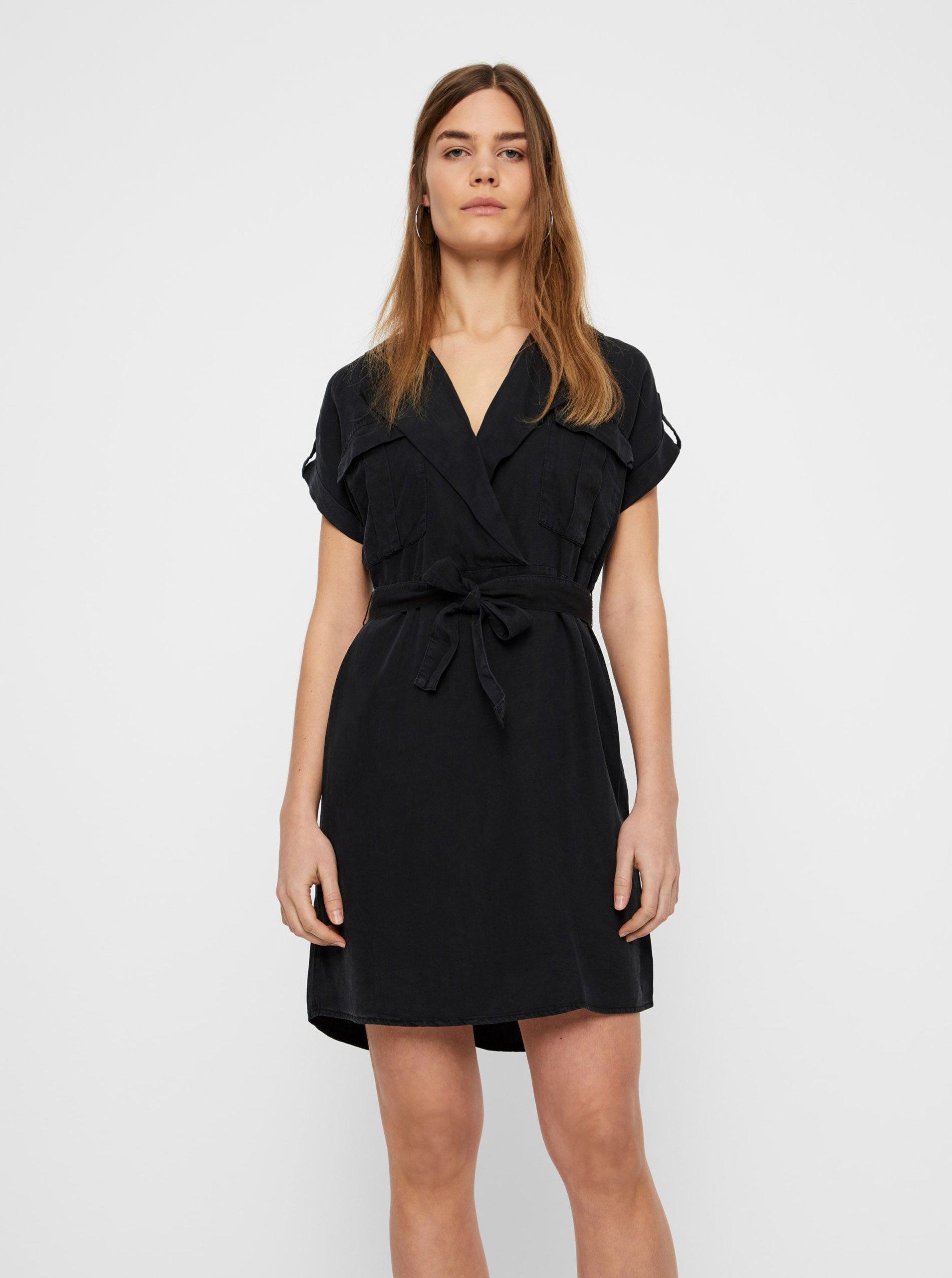 E-shop Černé košilové šaty Noisy May Vera