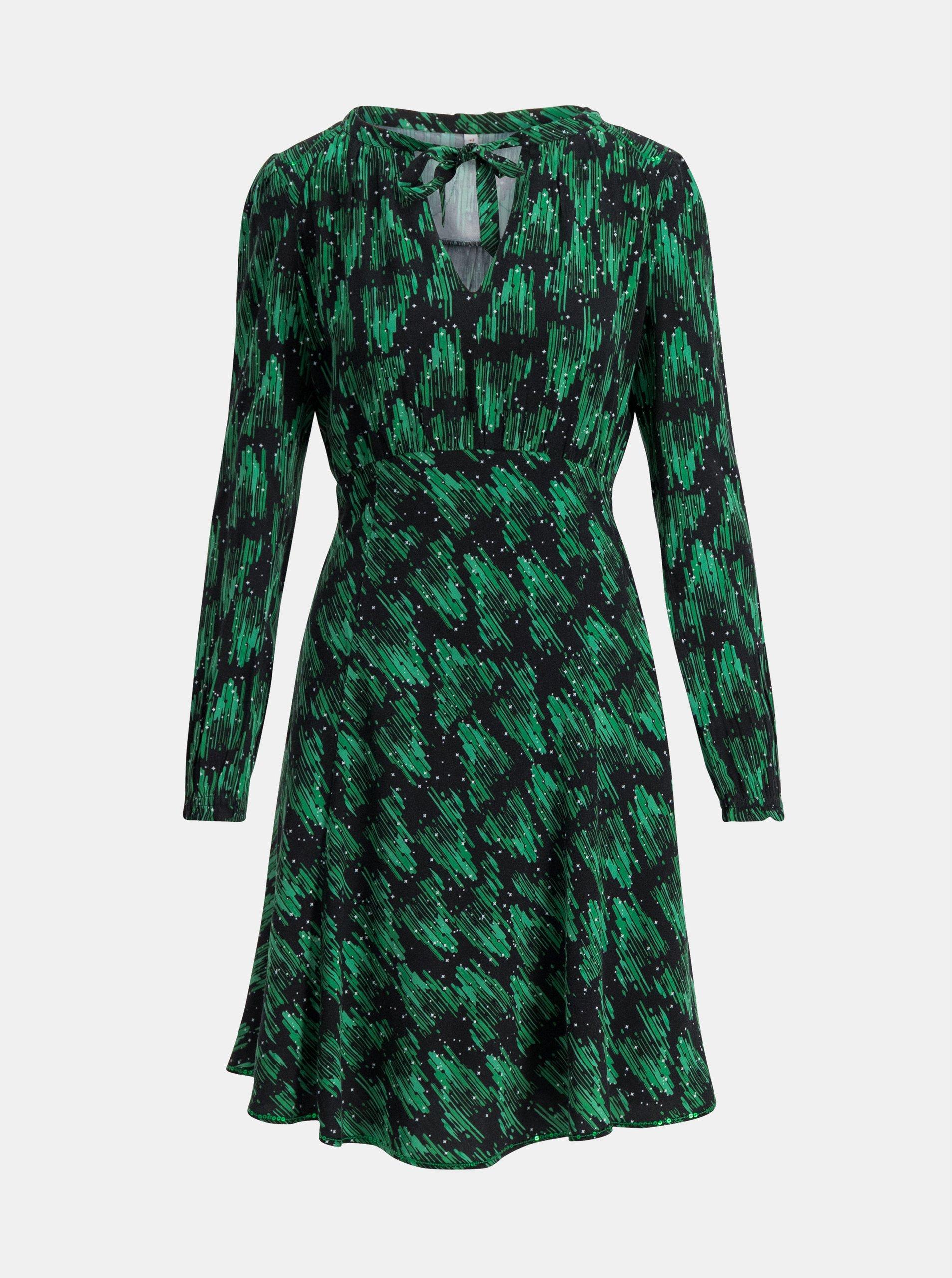 Zelené vzorované šaty Blutsgeschwister Greta.