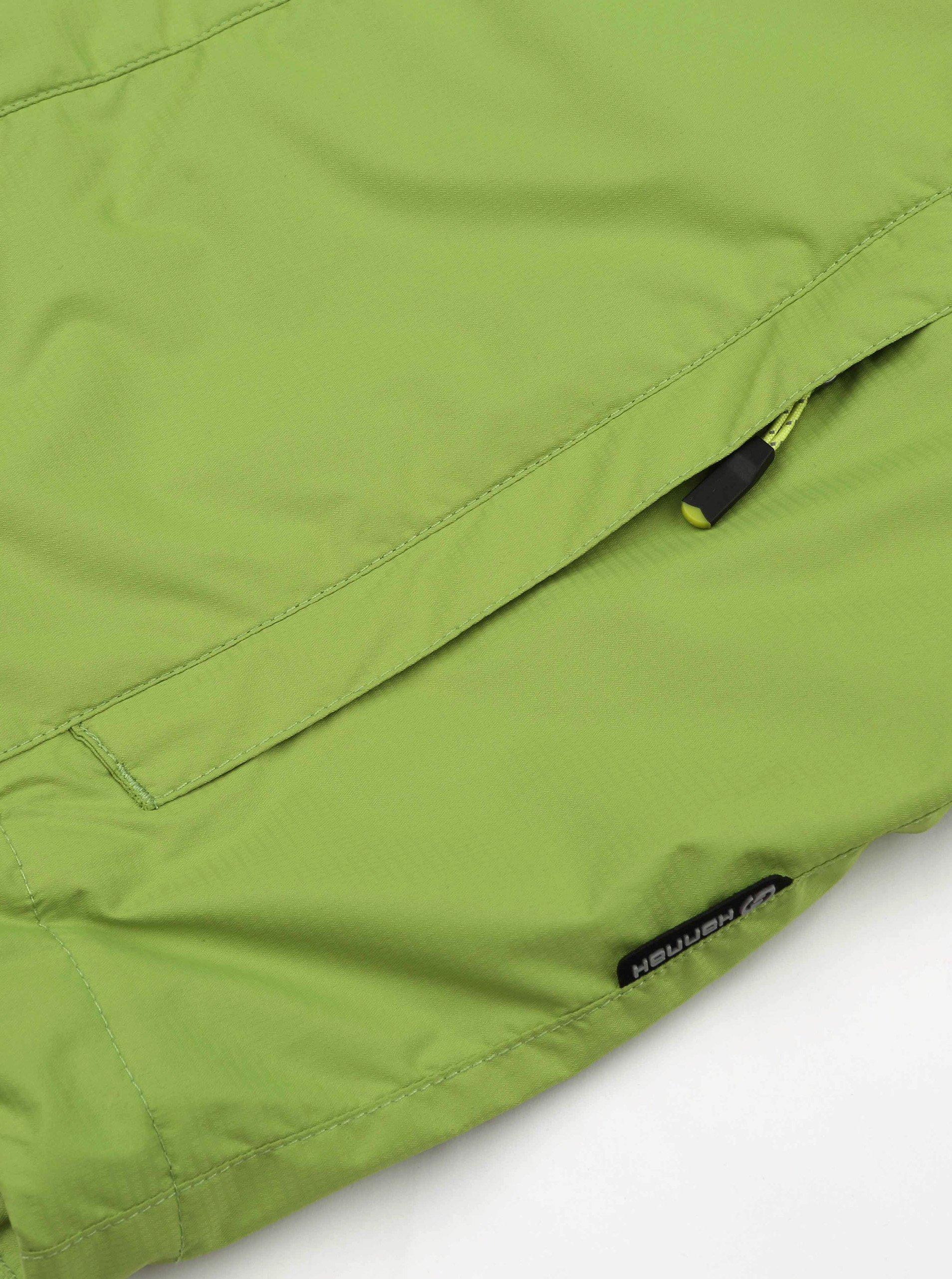 Zelená chlapčenská vodeodolná bunda Hannah Peeta.