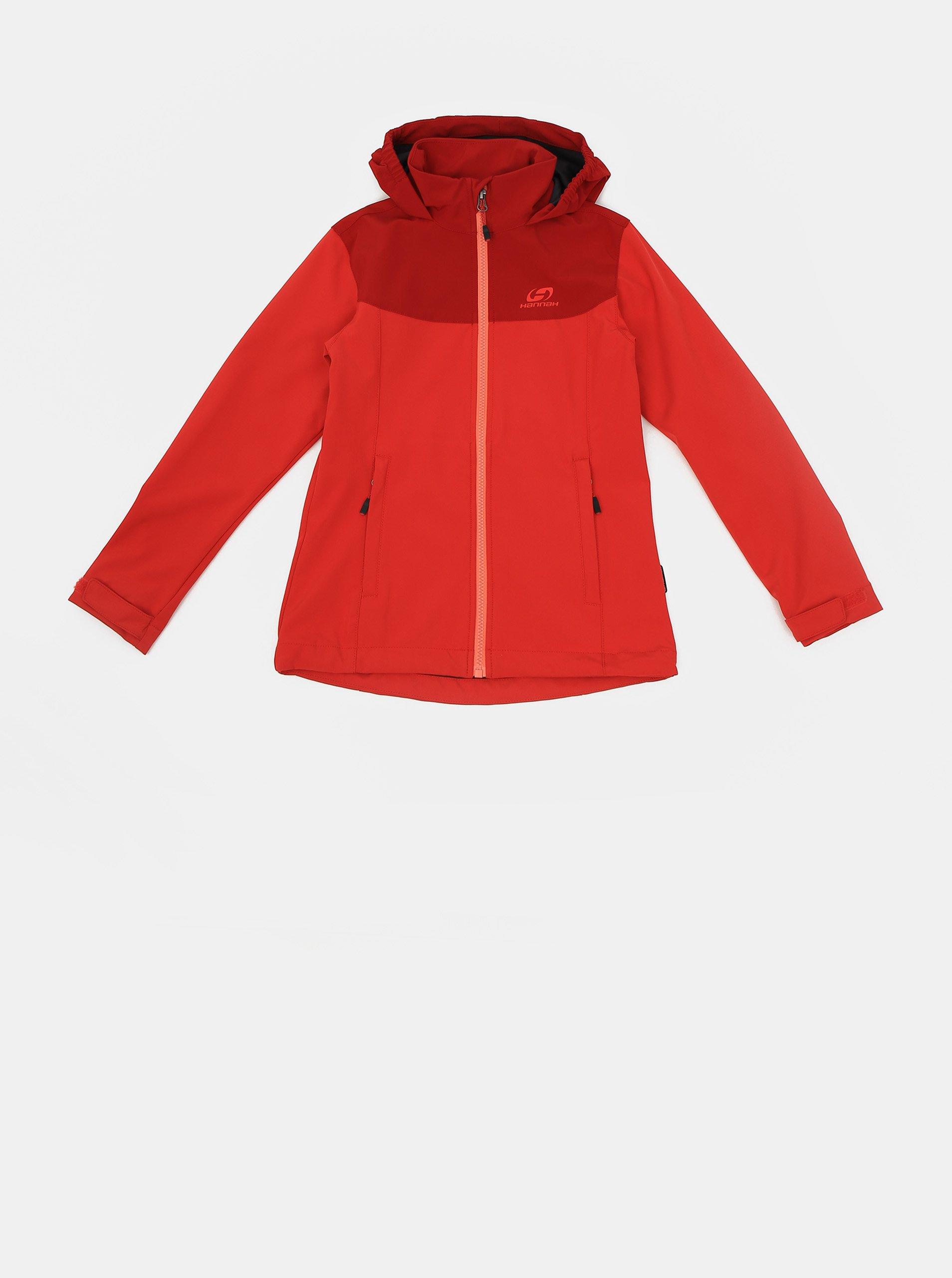 Červená dievčenská softshellová vodeodolná bunda Hannah Abona.