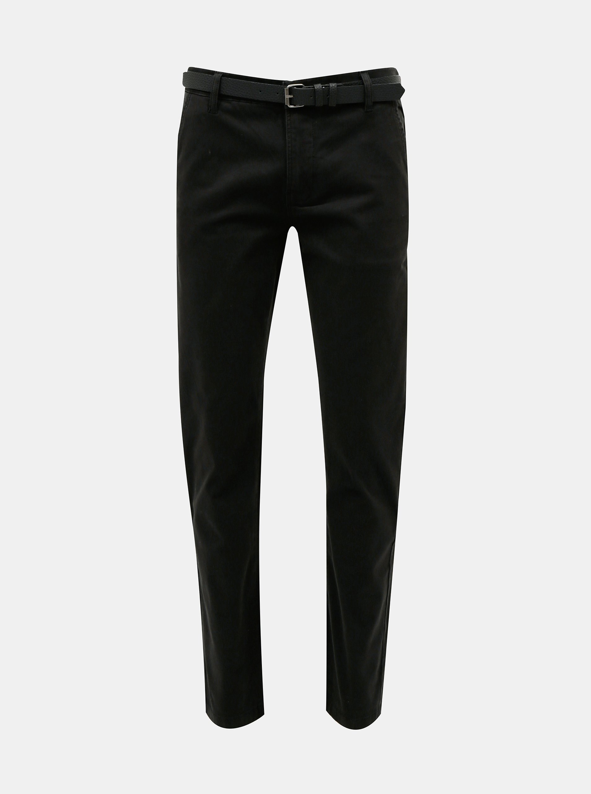 Čierne chino slim fit nohavice s opaskom Lindbergh.