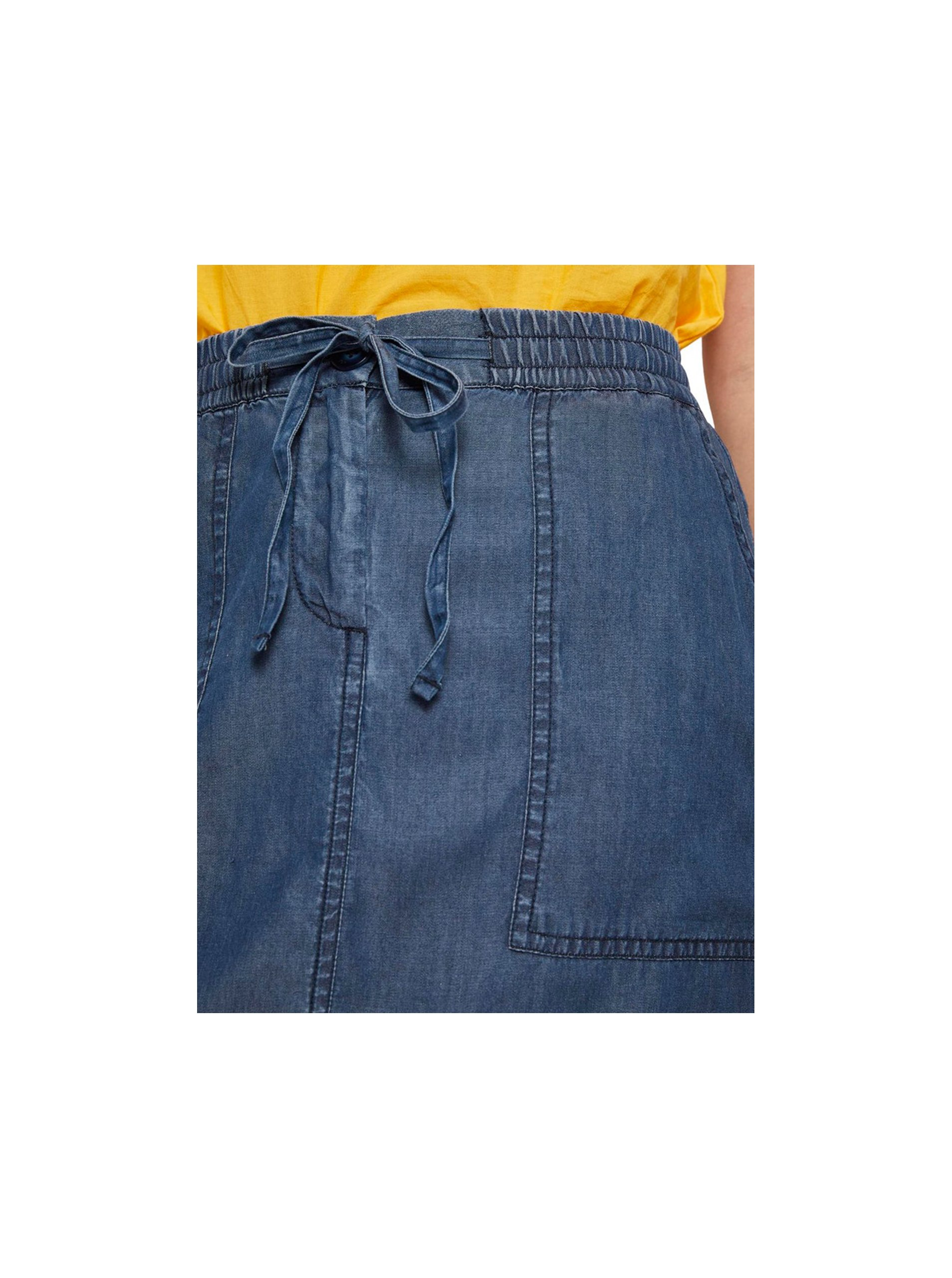 Modrá dámska rifľová sukňa Tom Tailor.
