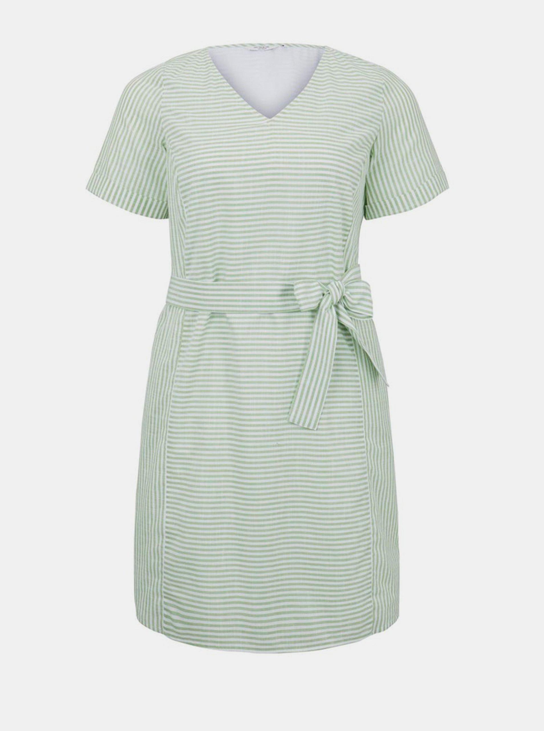 Svetlozelené dámske pruhované šaty My True Me Tom Tailor.