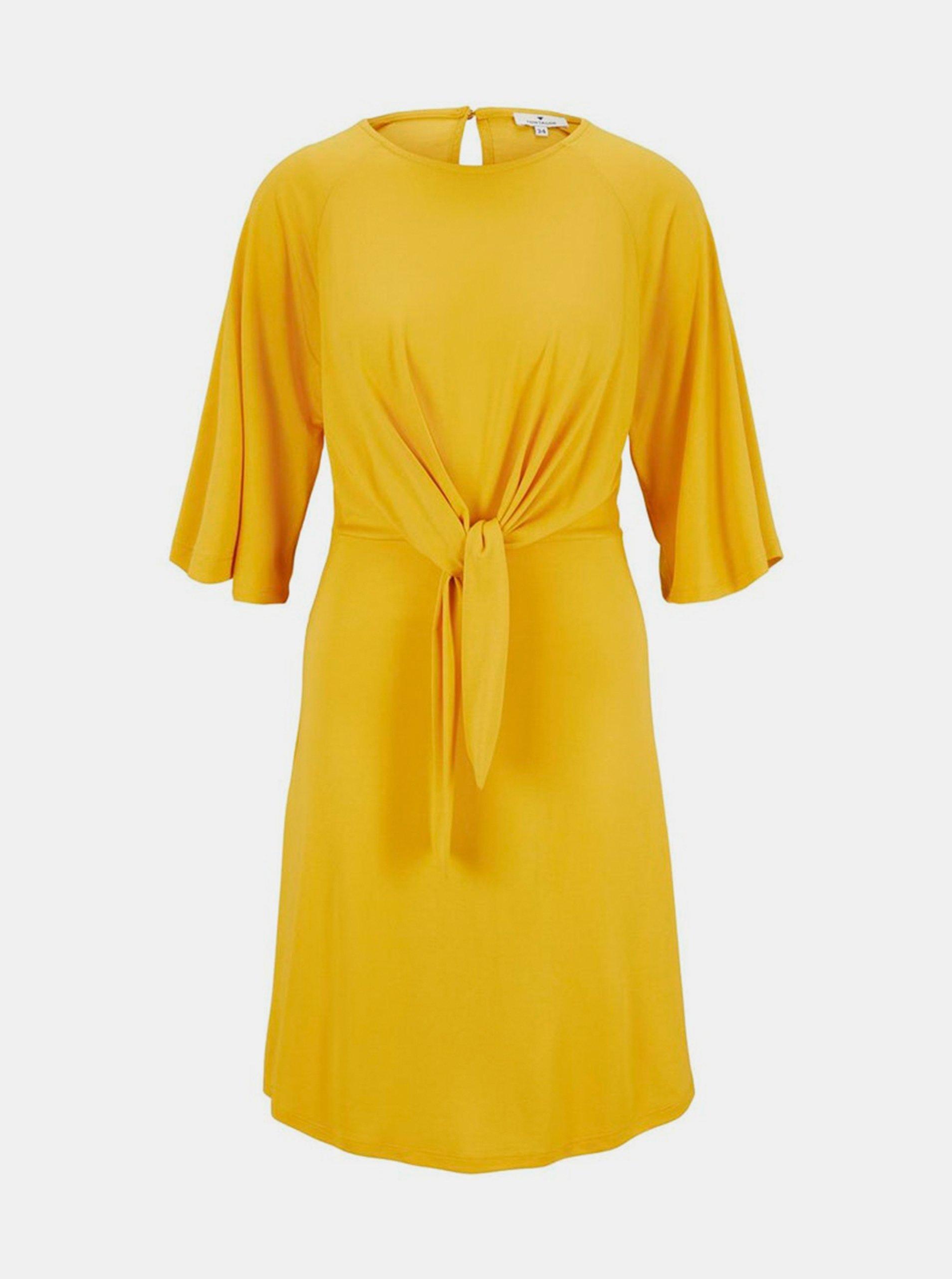 Horčicové dámske šaty Tom Tailor.