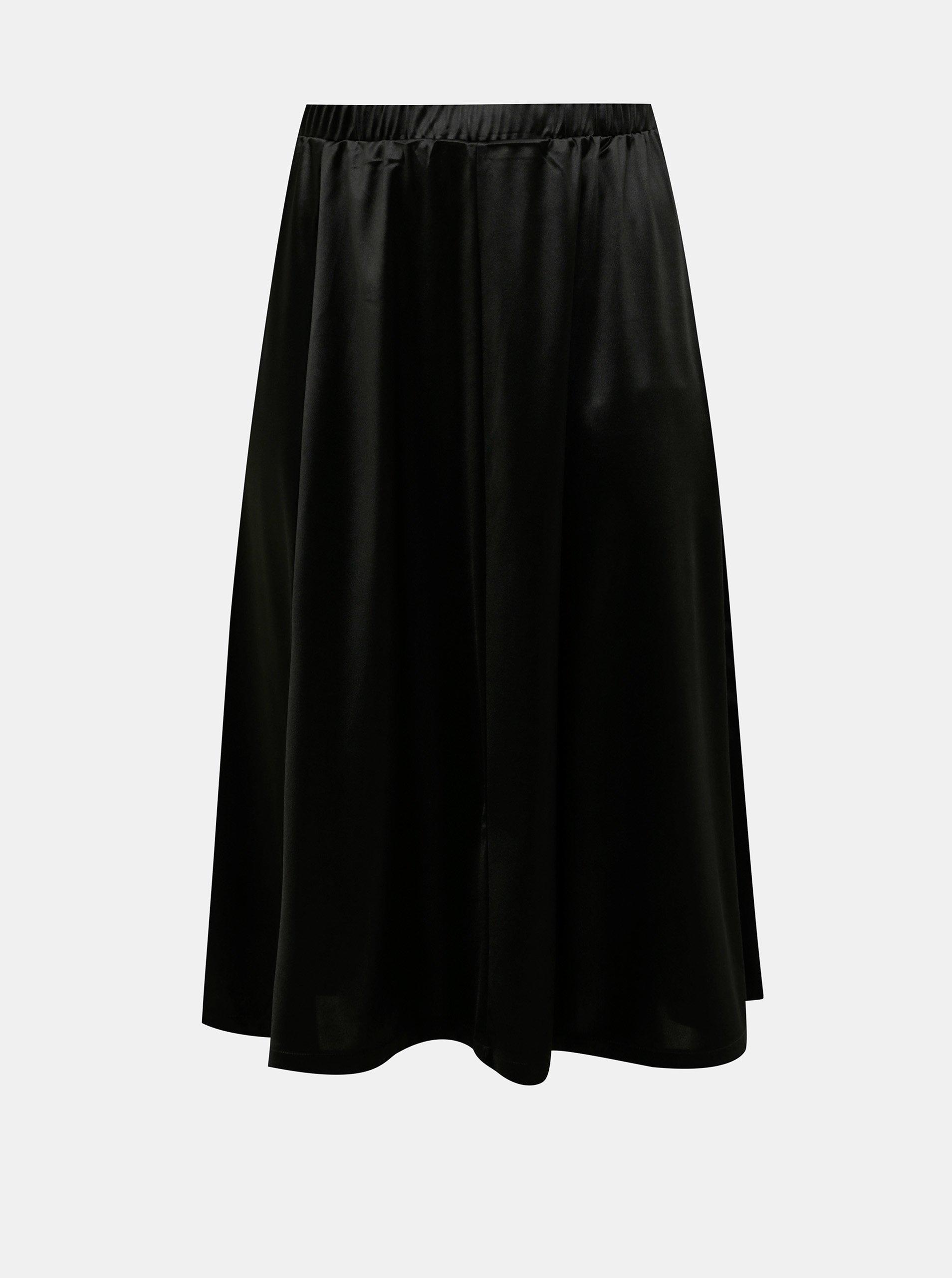 E-shop Černá midi sukně VERO MODA CURVE