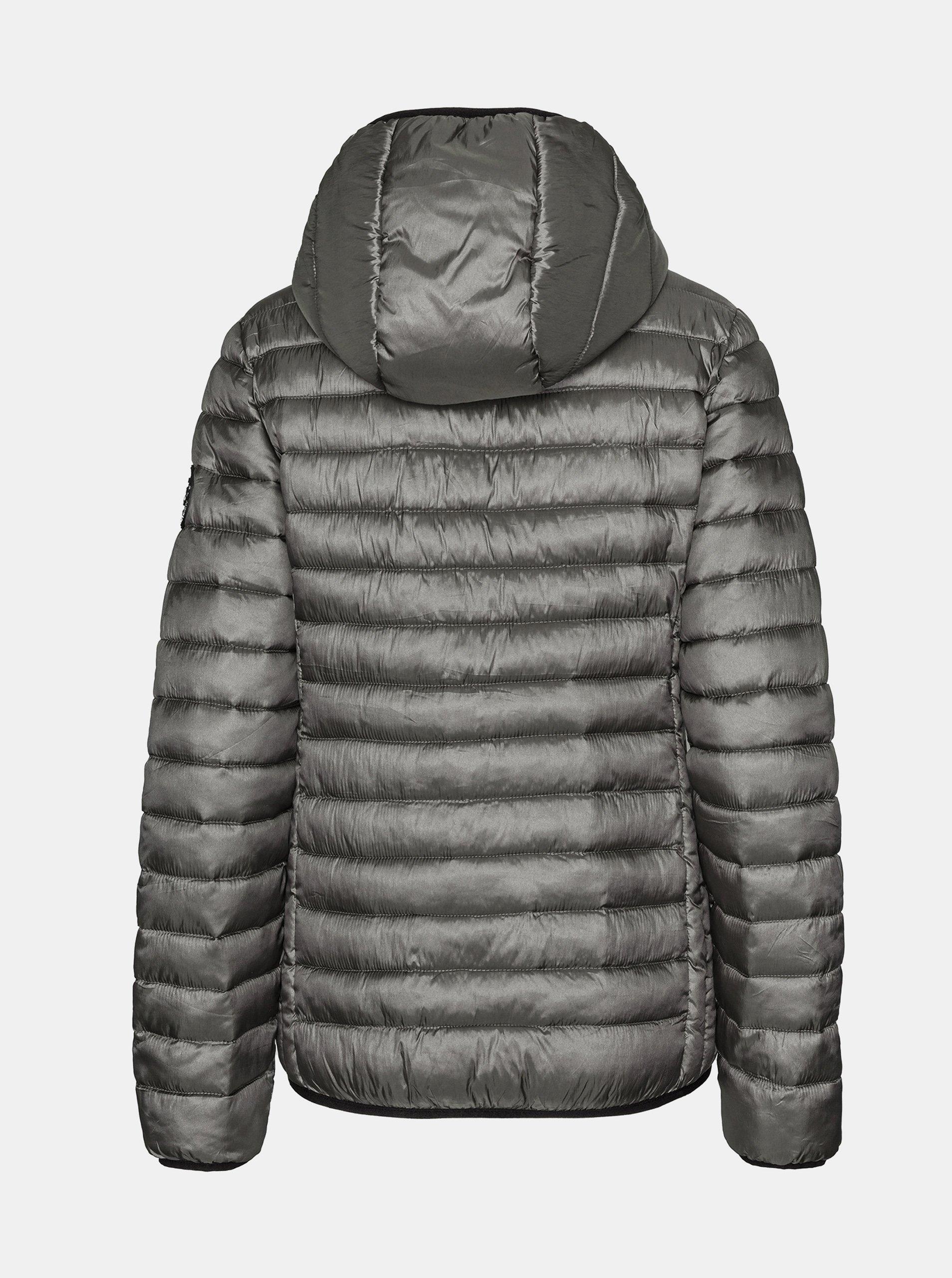 Šedá dámska prešívaná zimná bunda SAM 73.