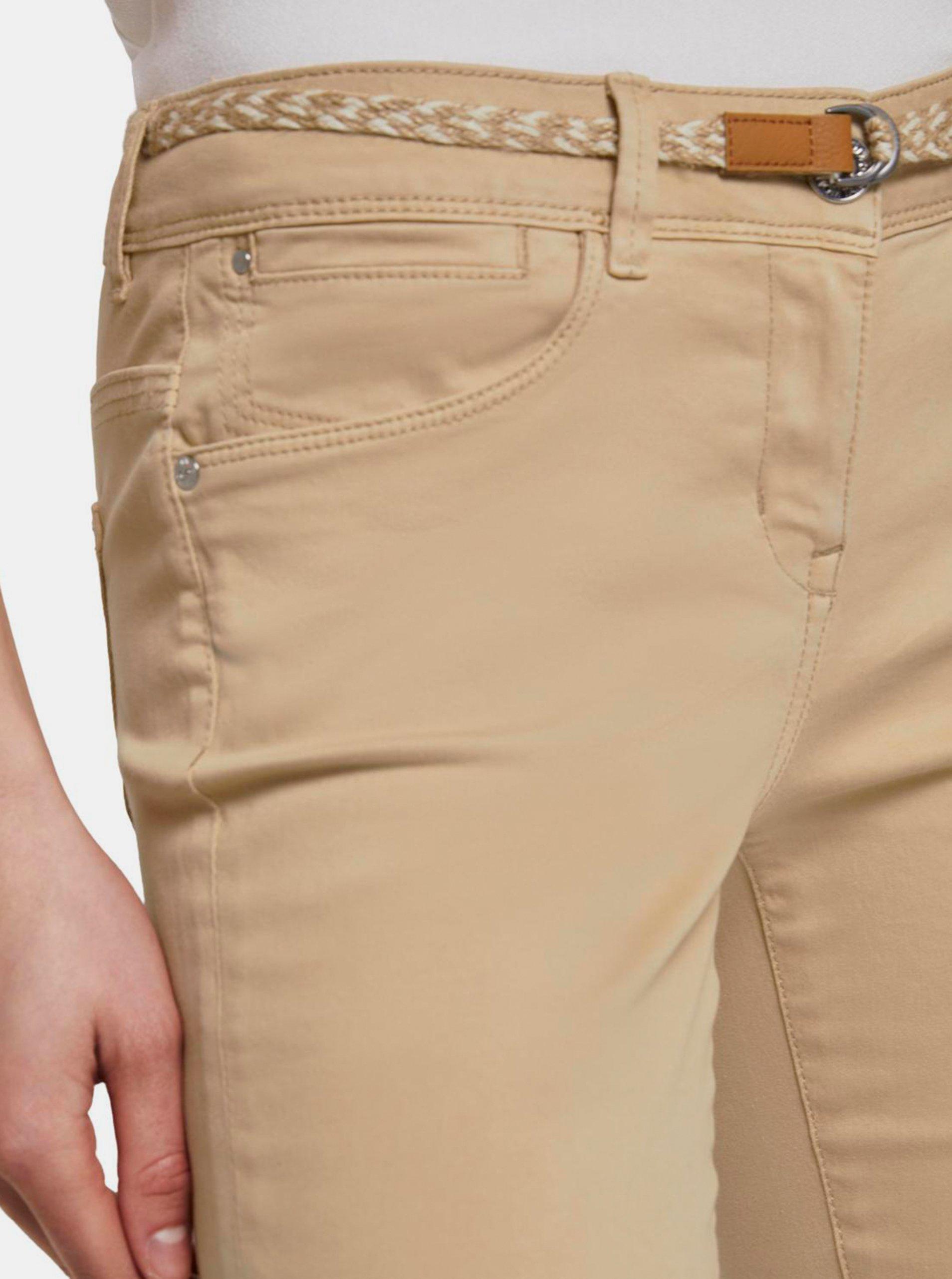 Béžové dámske 3/4 nohavice Tom Tailor.