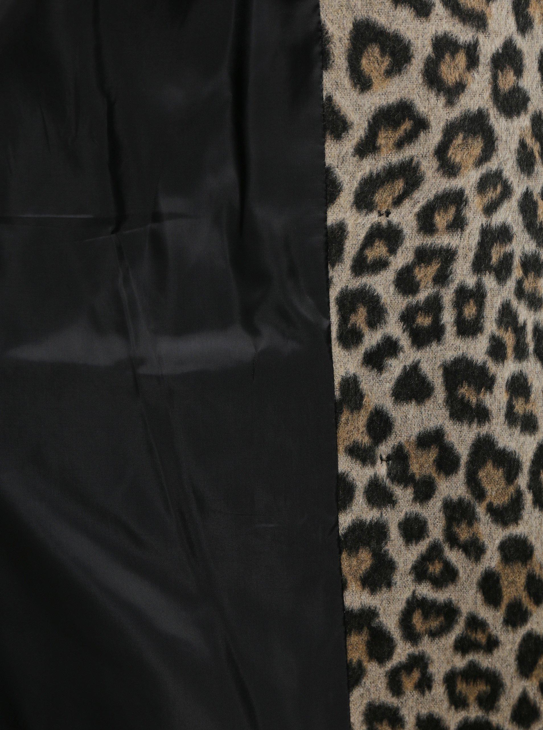 Hnedý zimný kabát s leopardím vzorom Dorothy Perkins Tall.