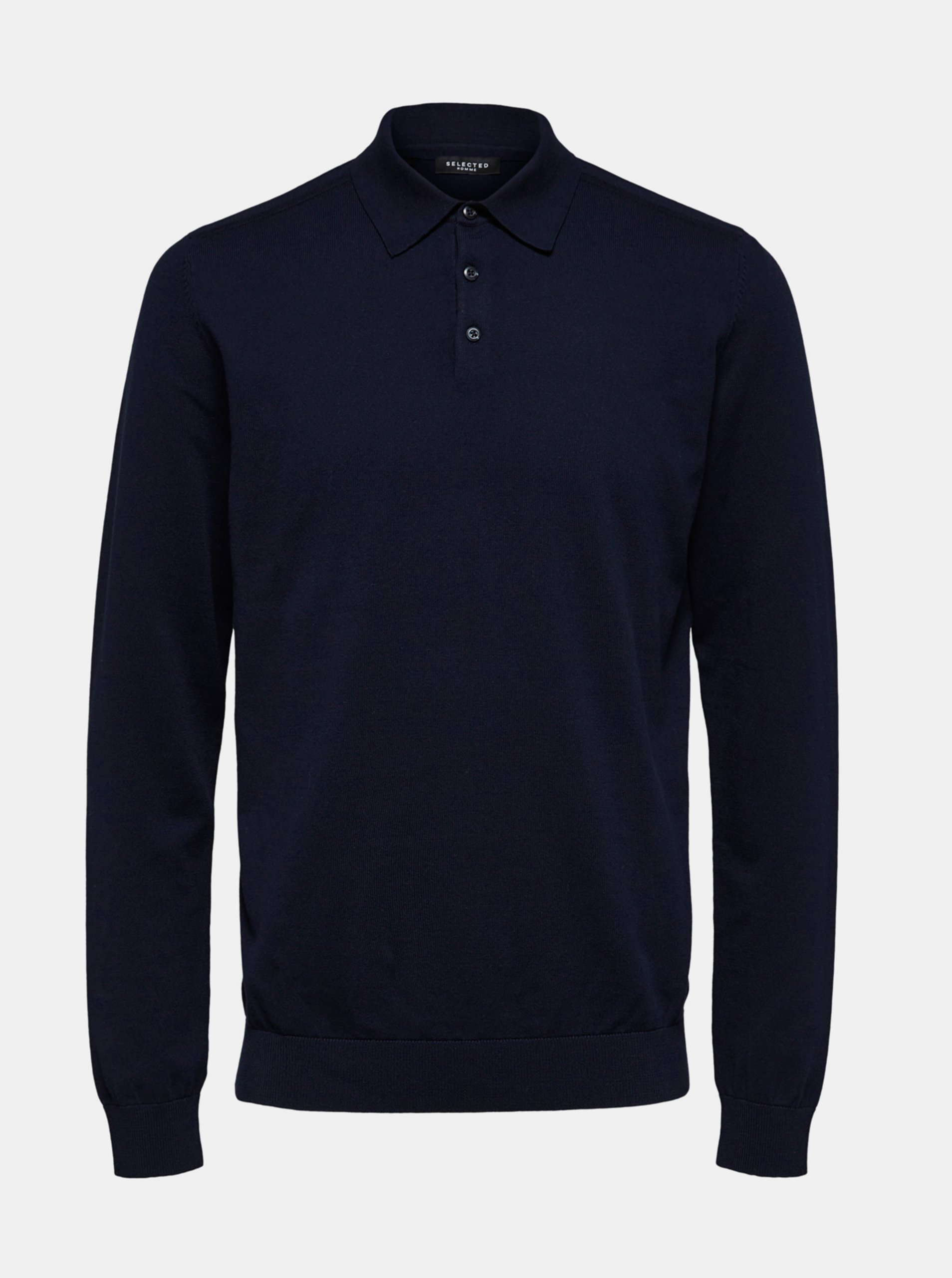 Modrý sveter s limcom Selected Homme.