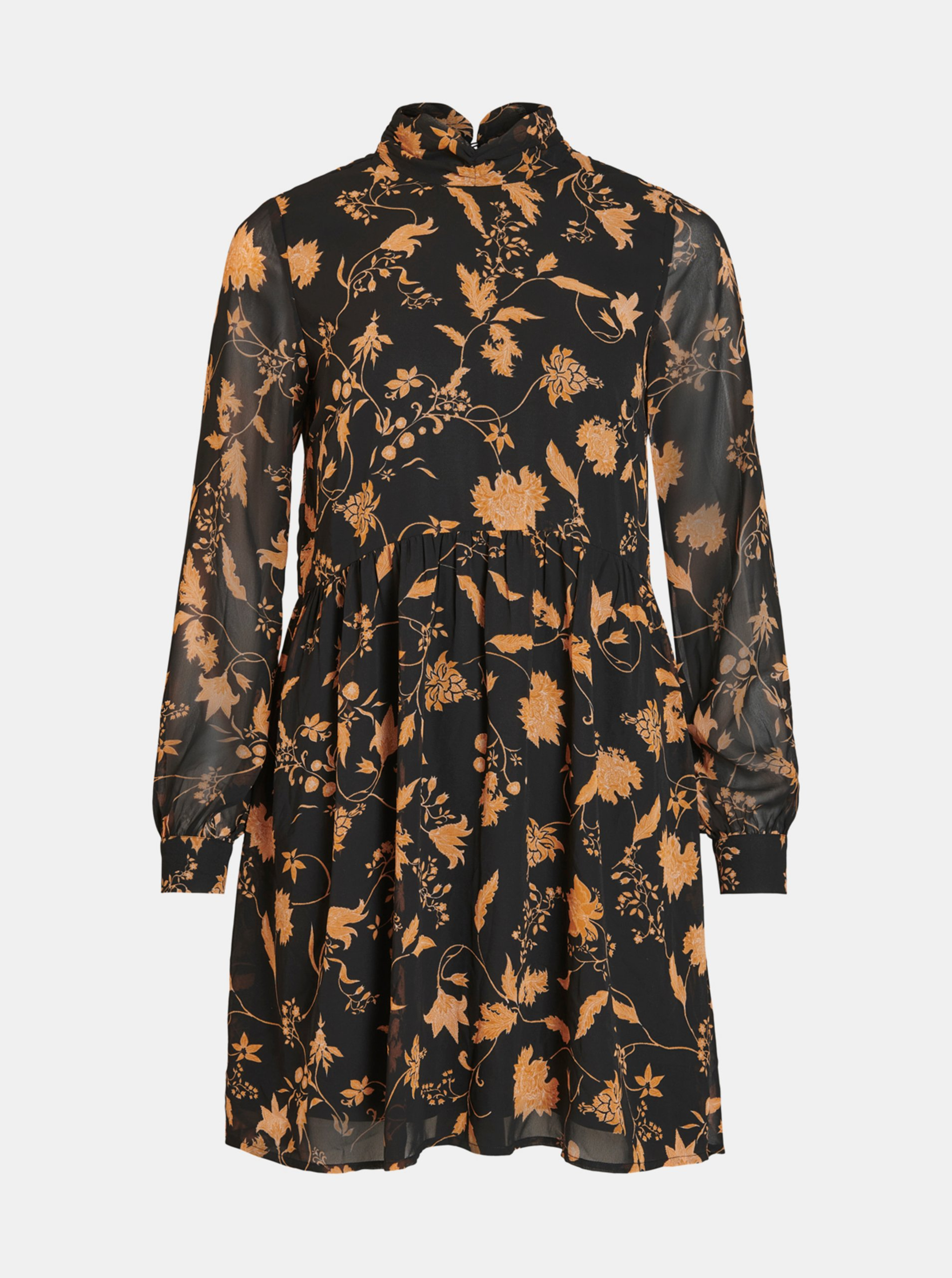Čierne kvetované šaty VILA.