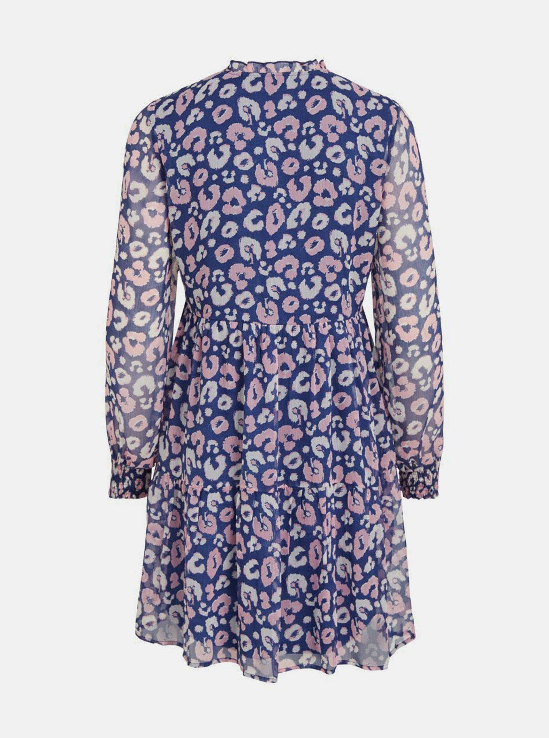 Modré vzorované šaty VILA.