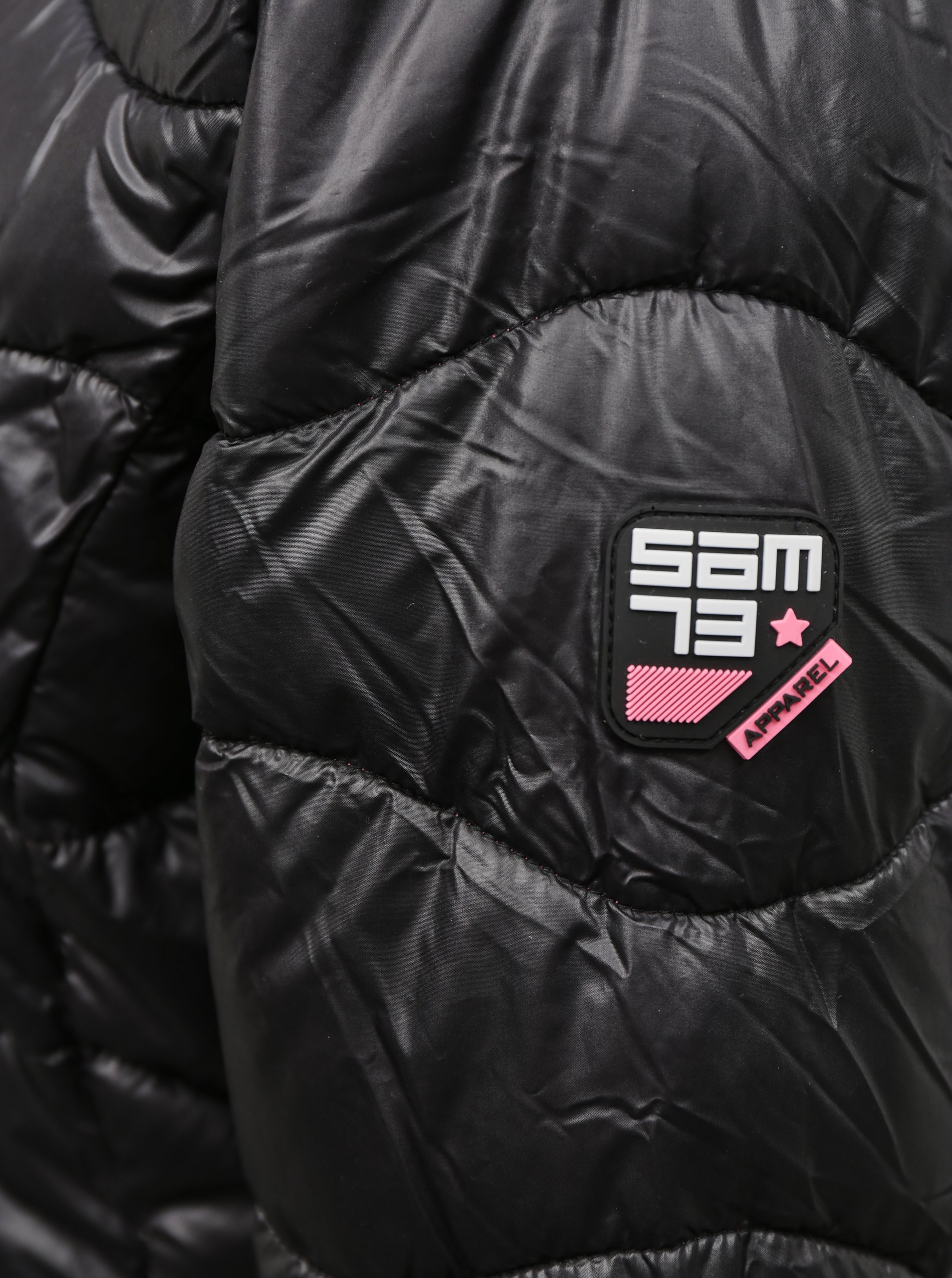 Čierna dámska zimná bunda SAM 73.