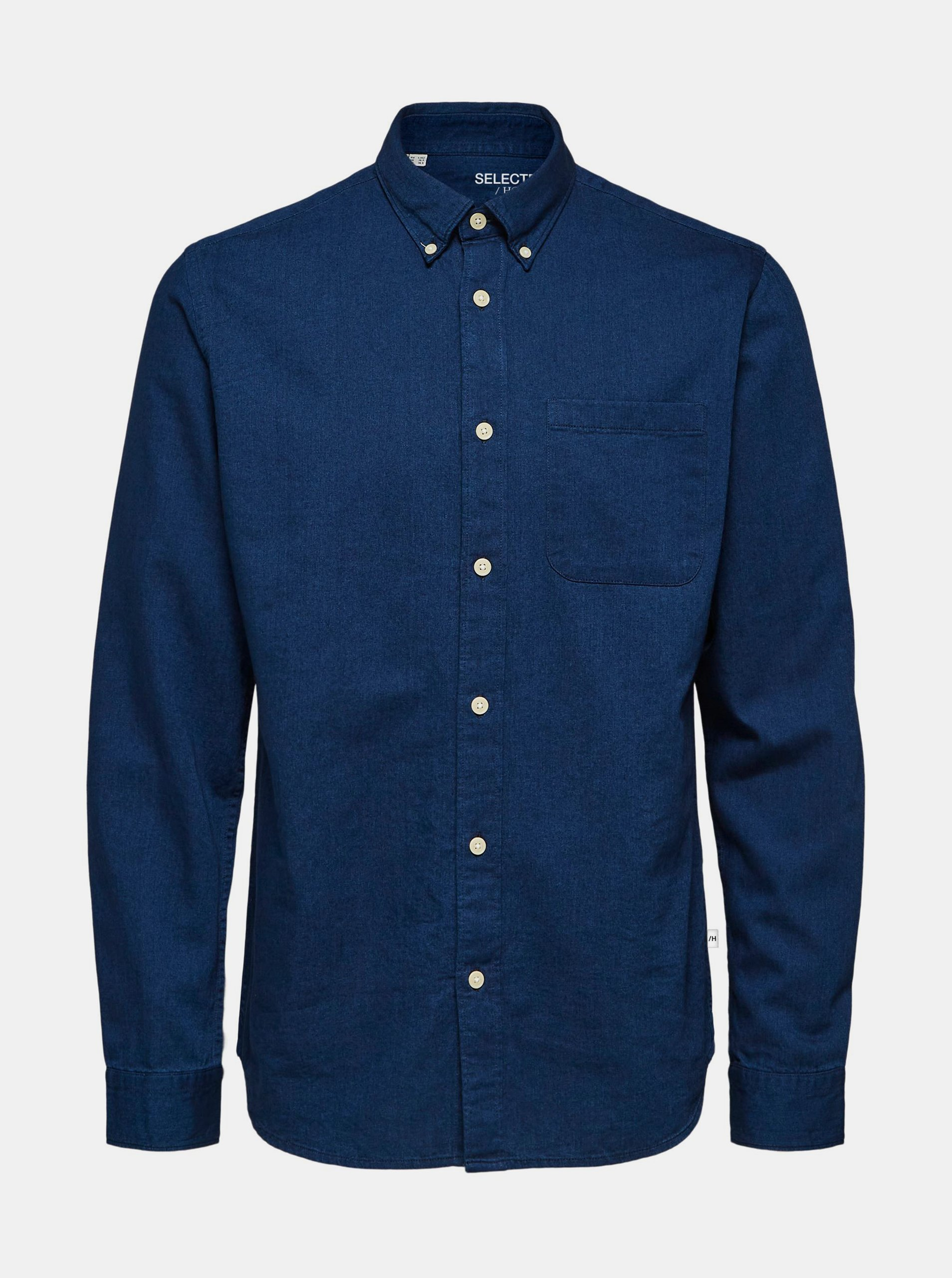 Tmavomodrá rifľová košeľa Selected Homme Regrick.