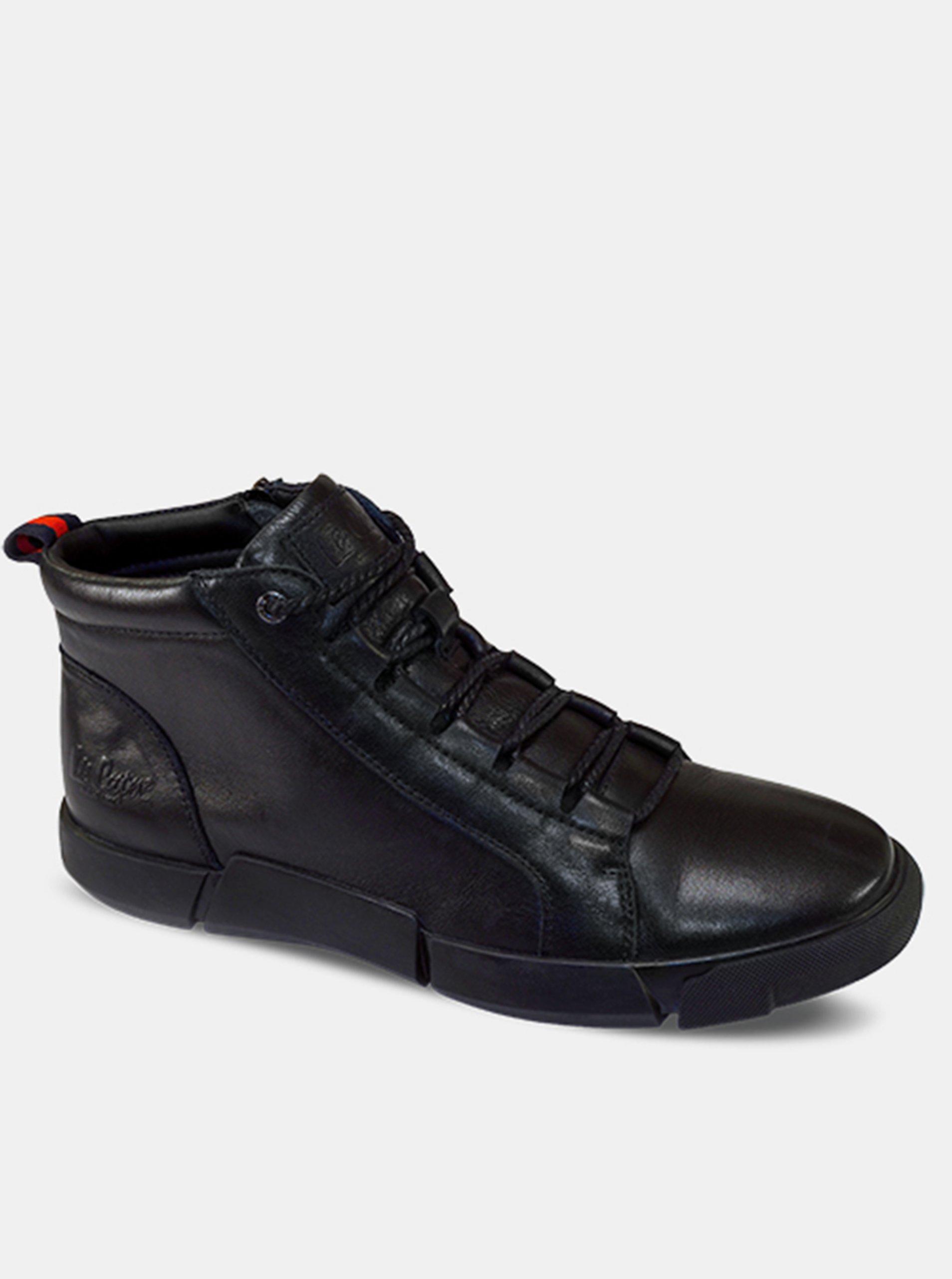 Lee Cooper čierne pánske topánky Black Unique.