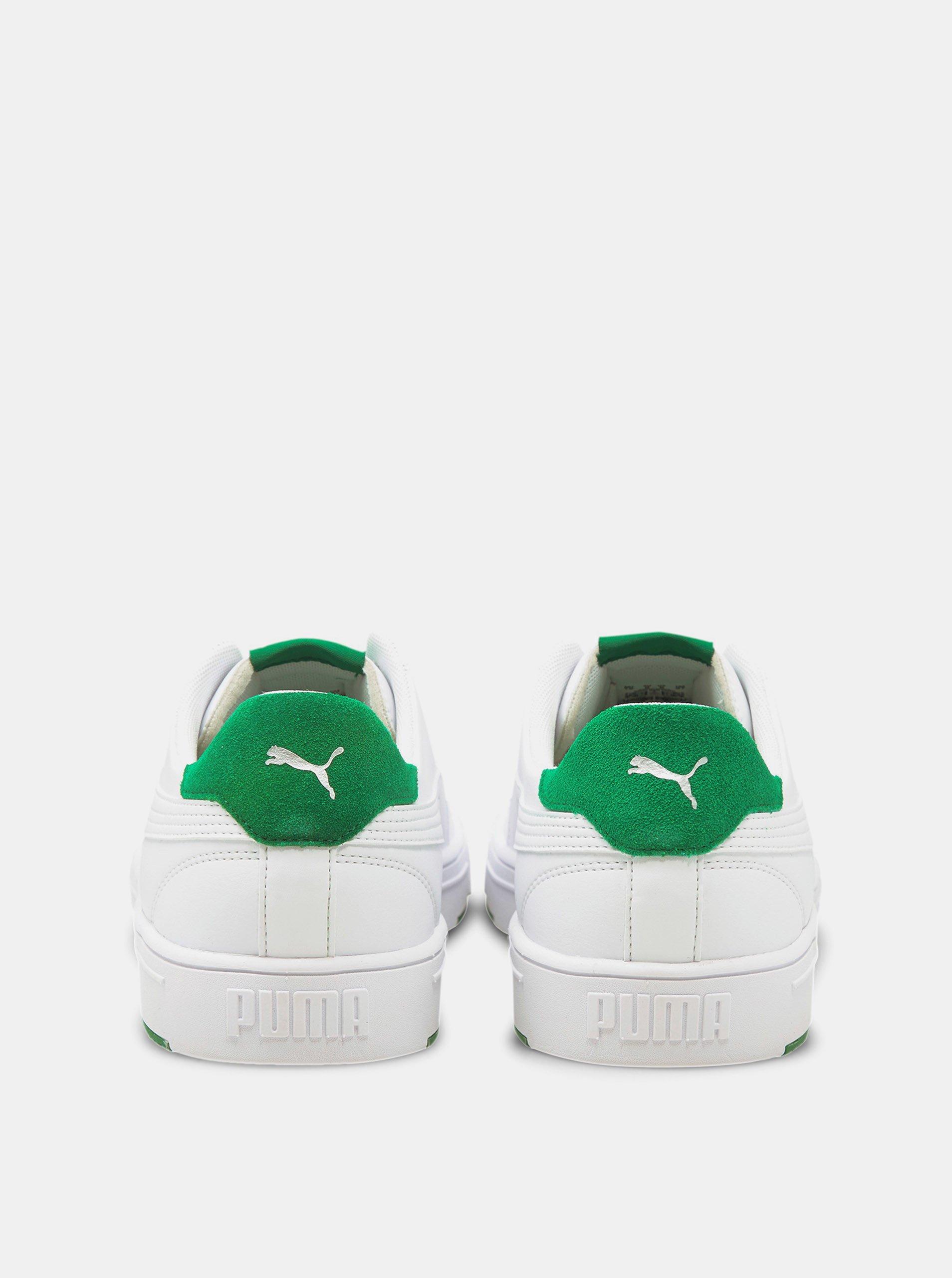 Biele pánske kožené tenisky Puma.