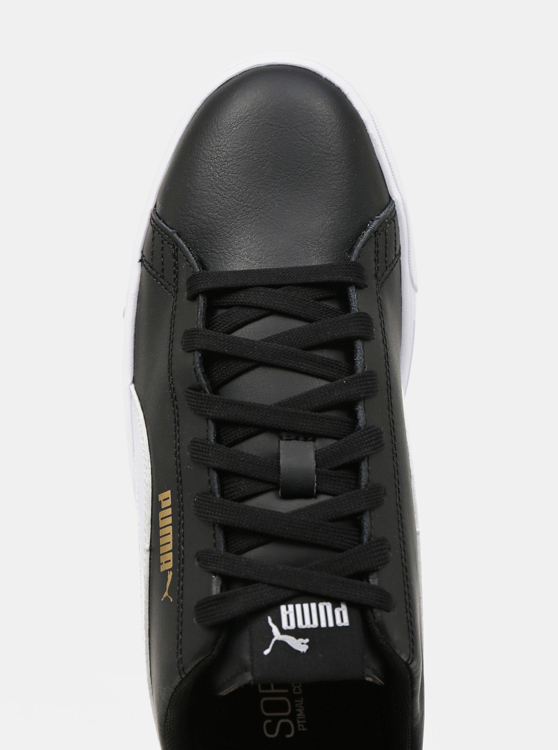 Čierne pánske kožené tenisky Puma.