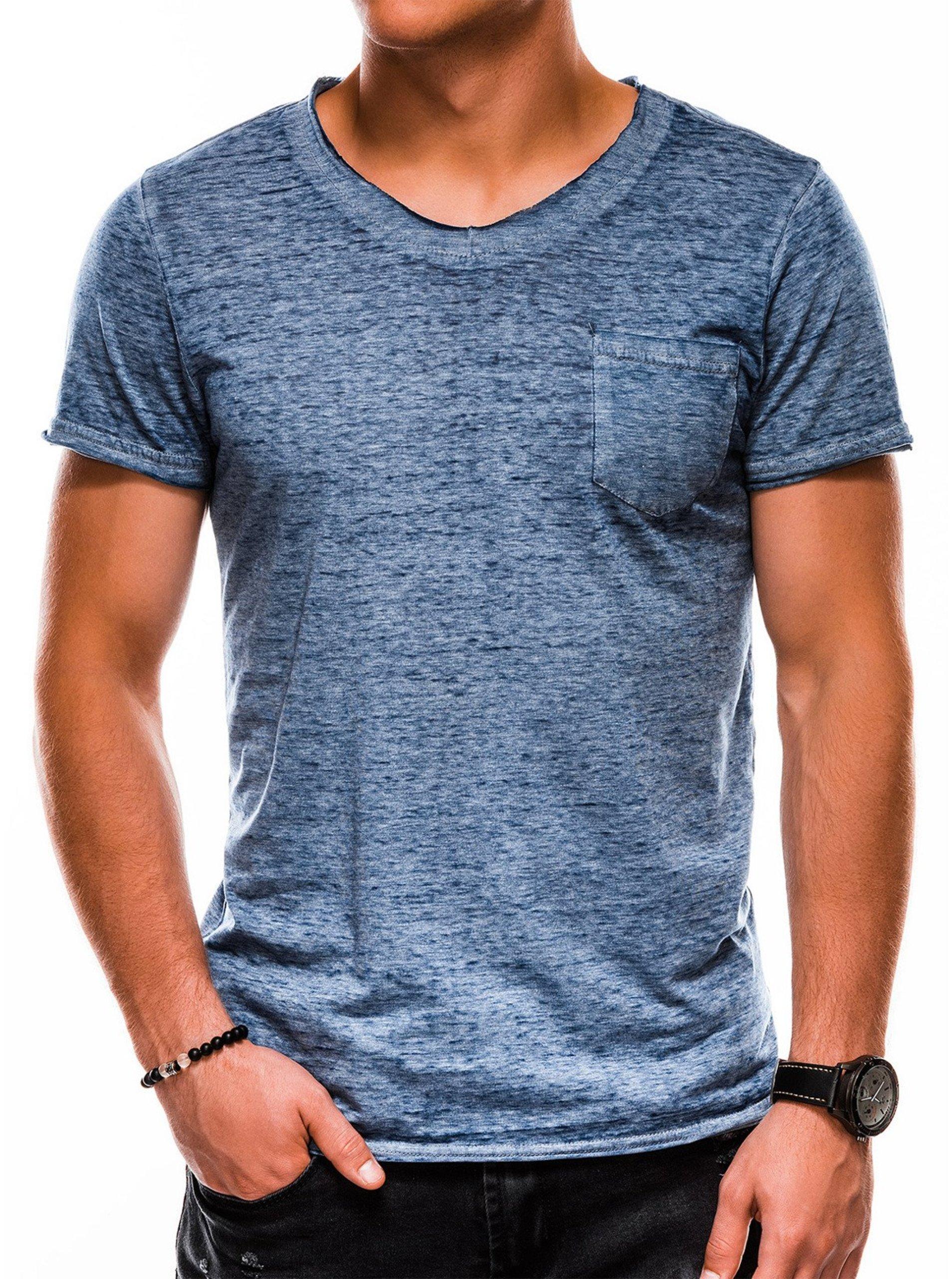 Pánské tričko bez potisku S1051 - námořnické