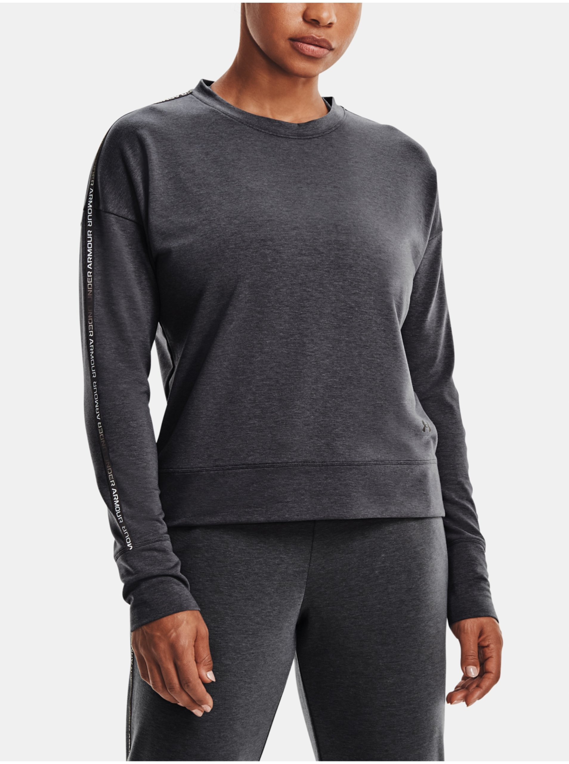 E-shop Mikina Under Armour Rival Terry Taped Crew - šedá