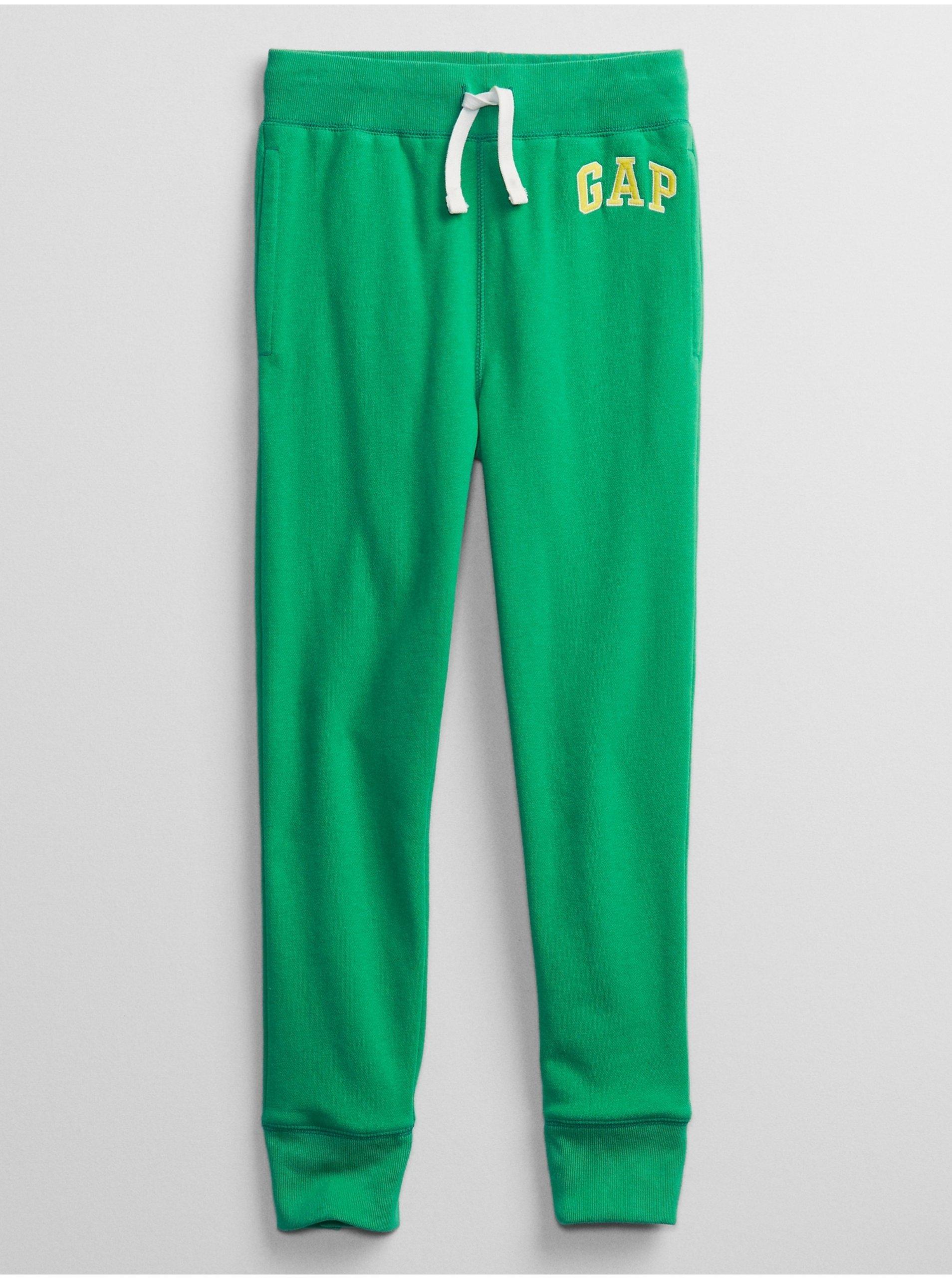E-shop Detské tepláky GAP Logo pull-on pants Zelená