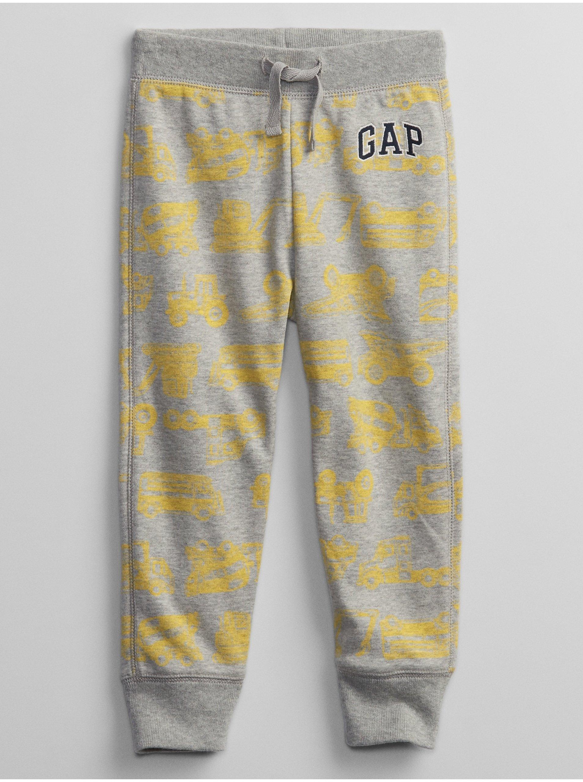 E-shop Detské tepláky GAP Logo pull-on joggers Žltá