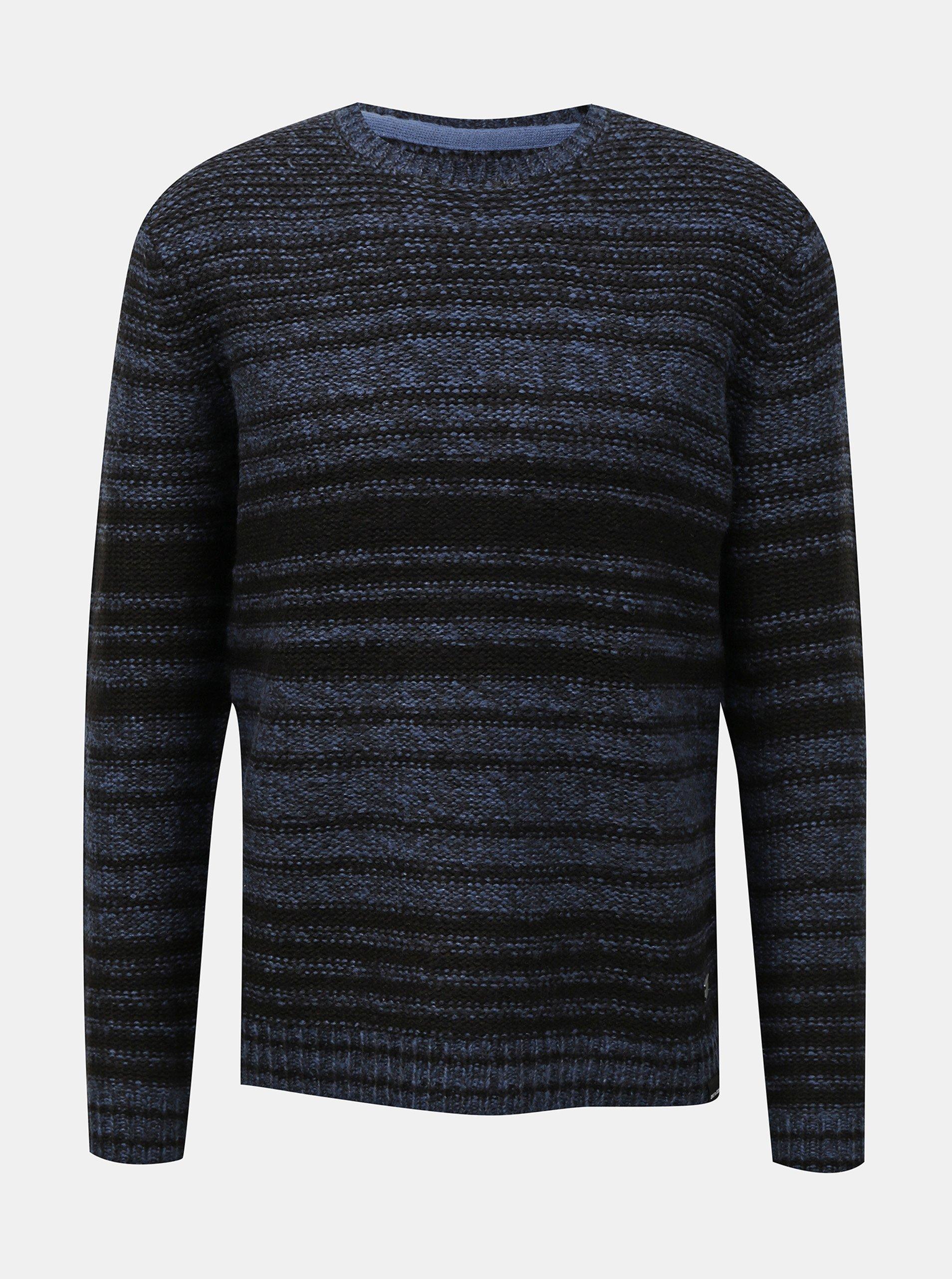 E-shop Modro-černý pruhovaný svetr ONLY & SONS Callen
