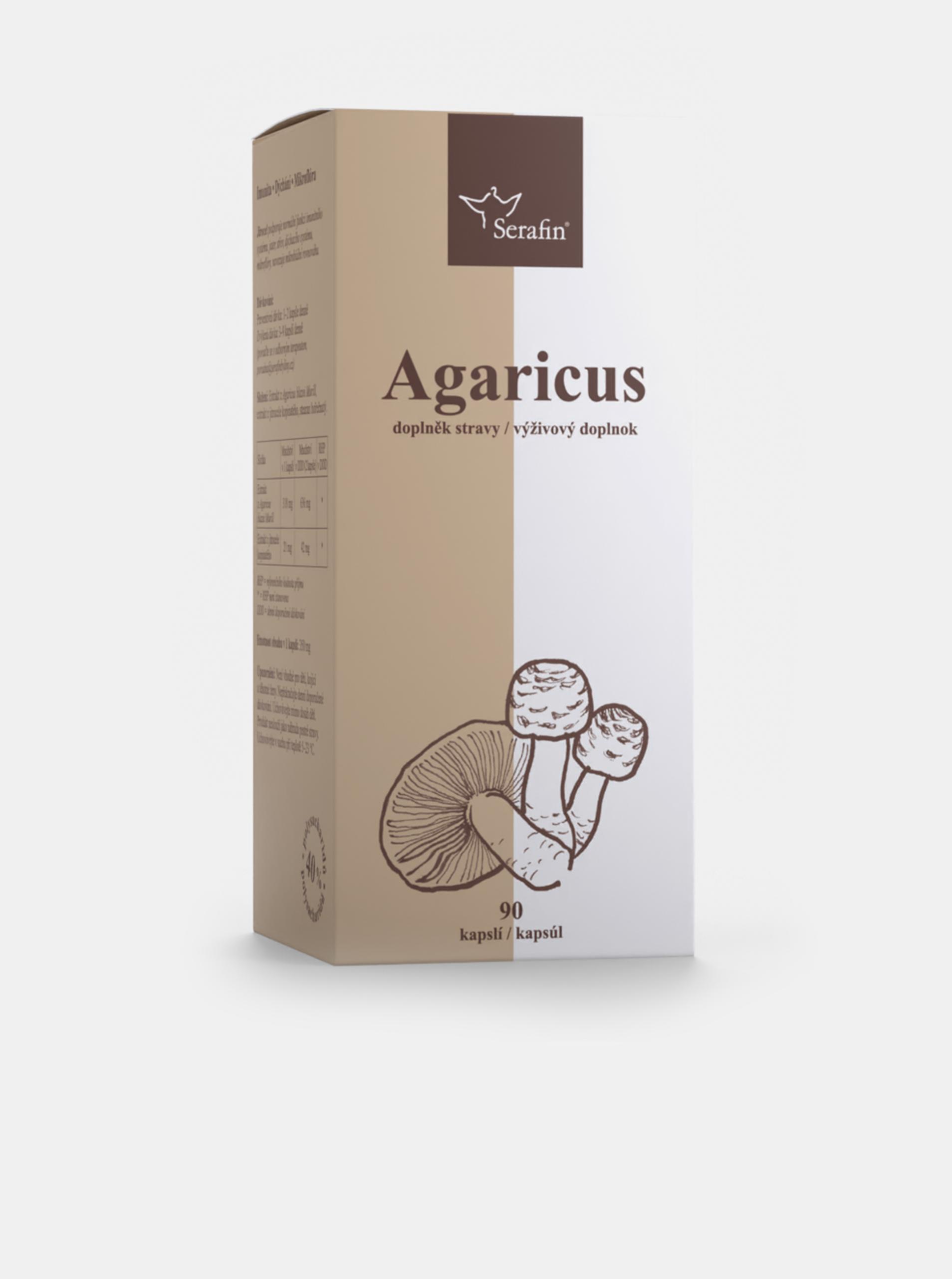 Agaricus s jitrocelem - 40% polysacharidů Serafin (90 kapslí)