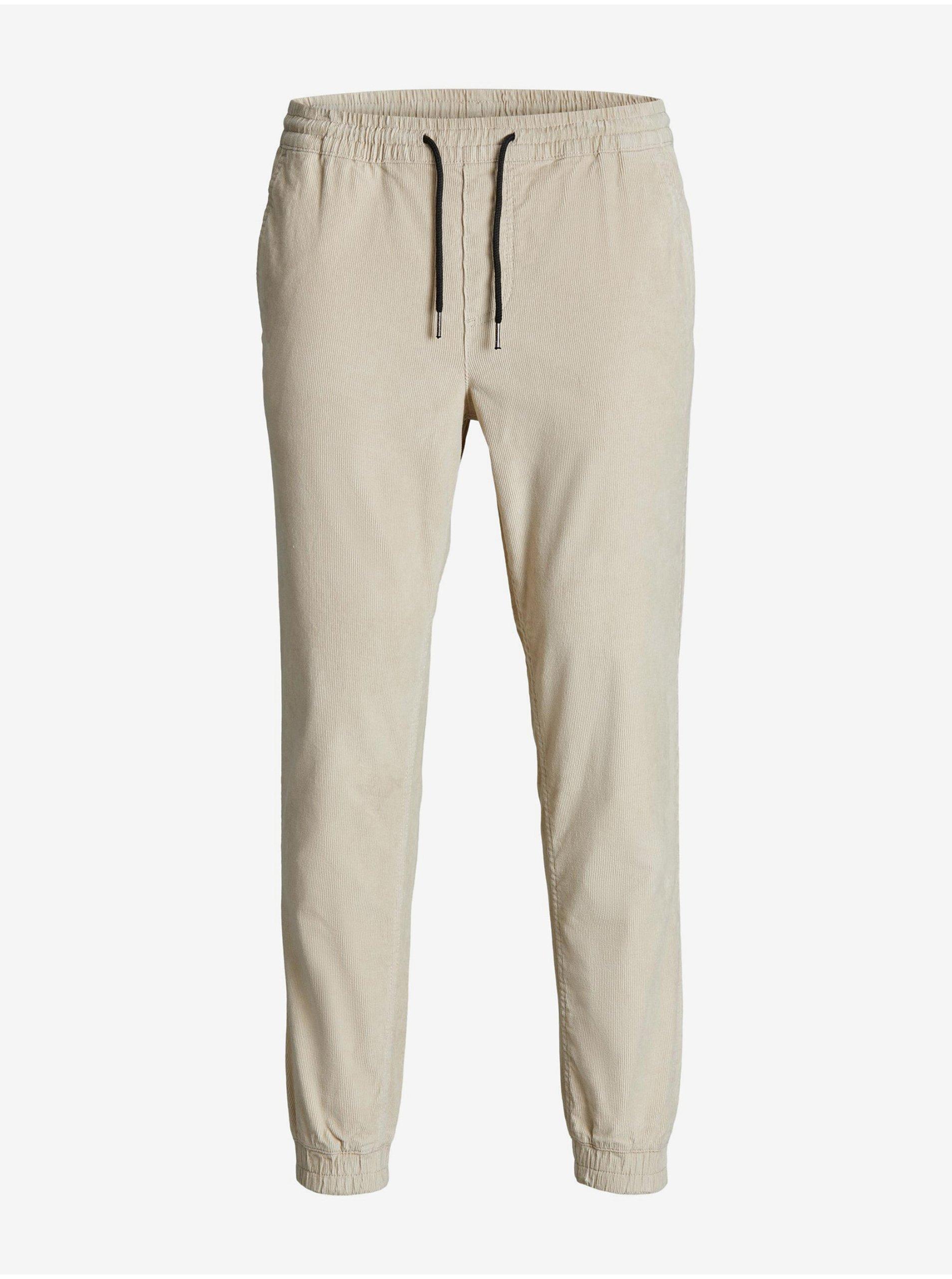 Krémové manšestrové kalhoty Jack & Jones Gordon