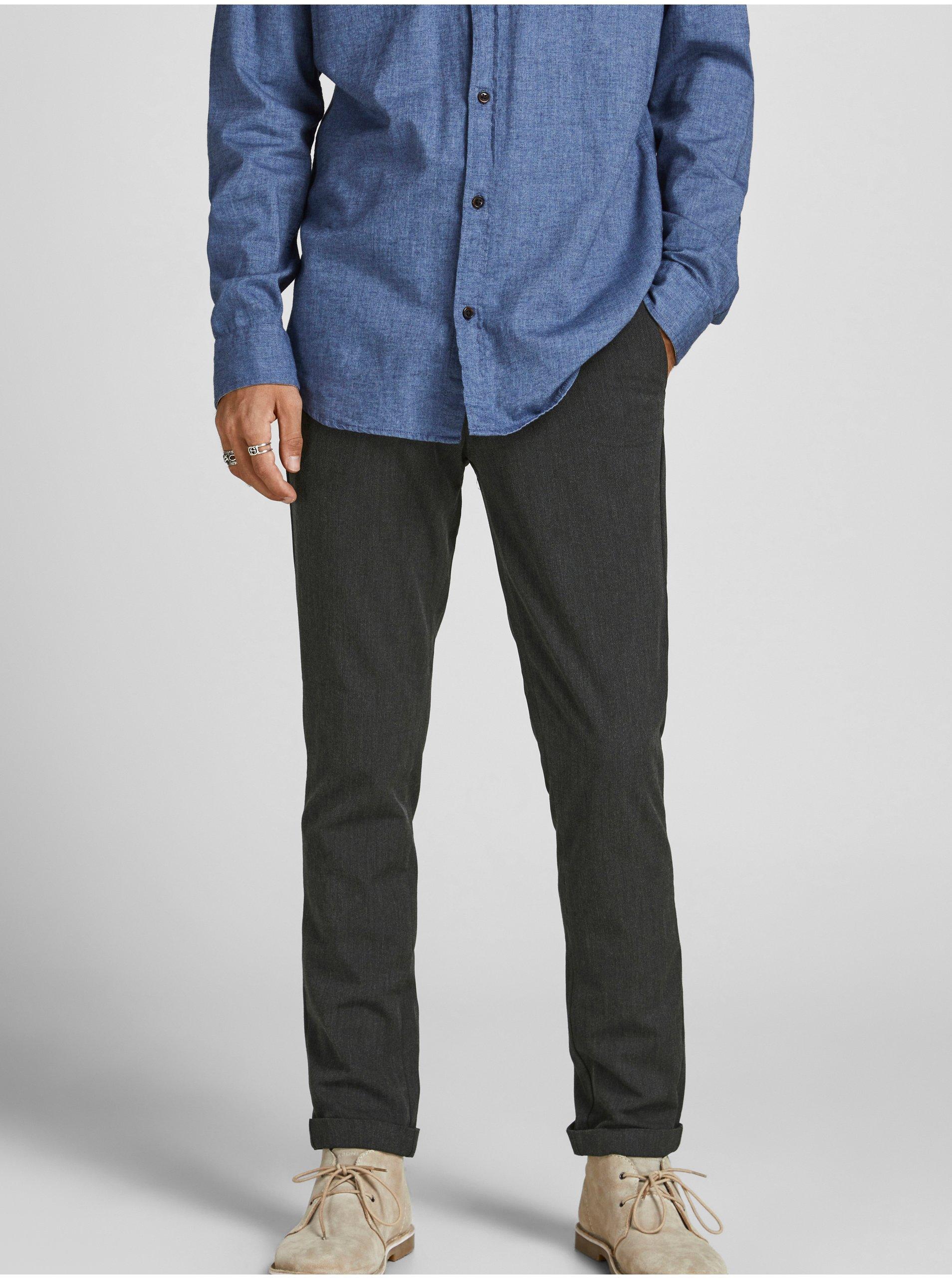 Tmavě šedé kalhoty Jack & Jones Marco
