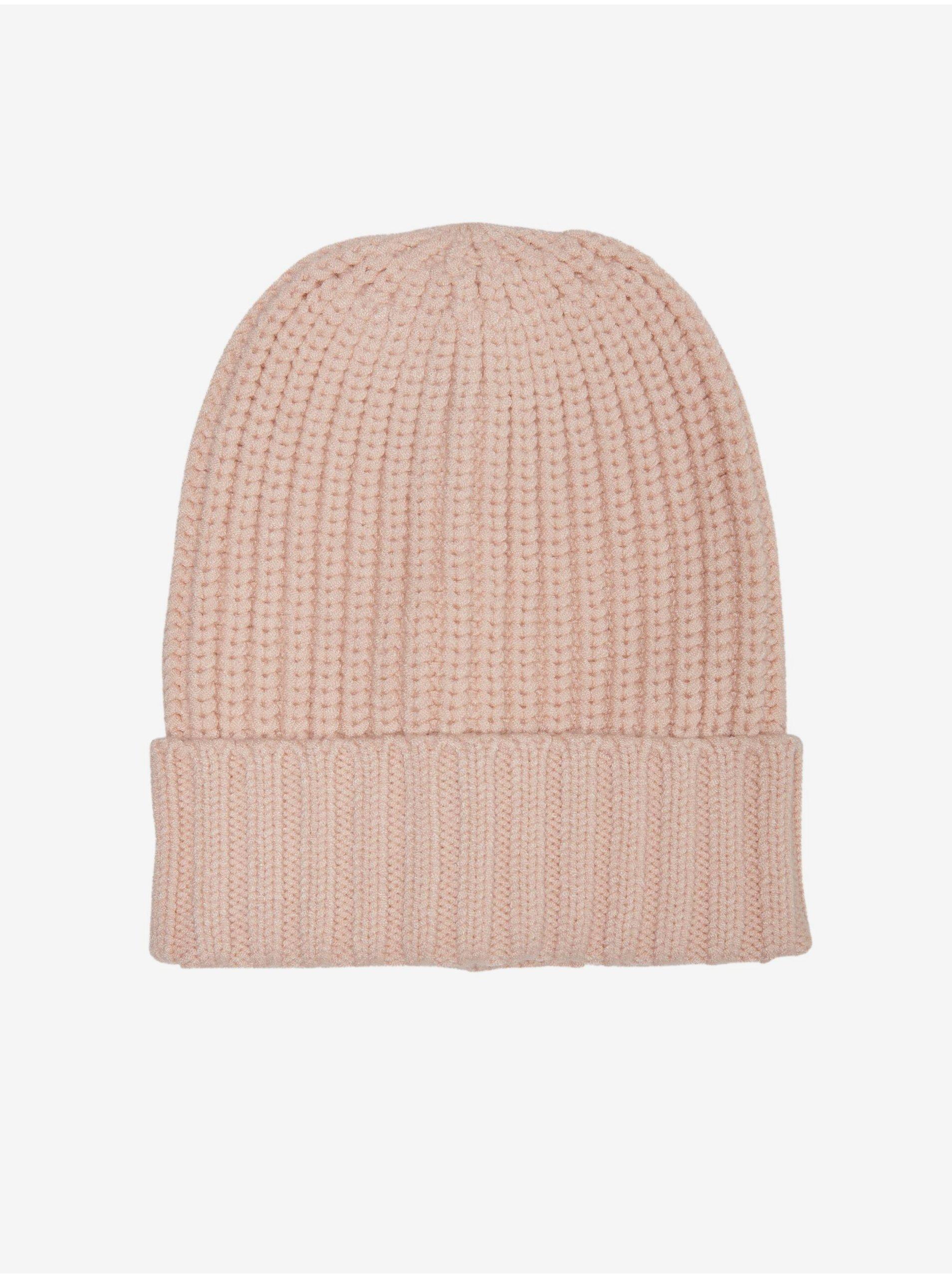 Světle růžová čepice ONLY Dina
