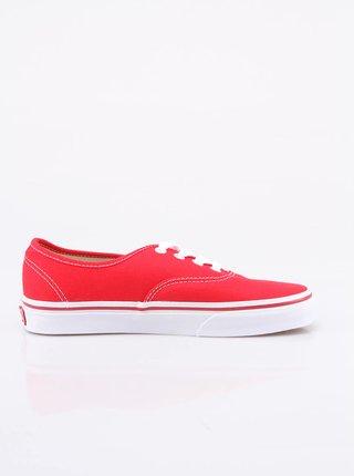 Červené dámské nízké tenisky Vans Authentic