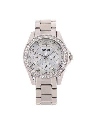Dámské hodinky s nerezovým páskem ve stříbrné barvě  Fossil Riley
