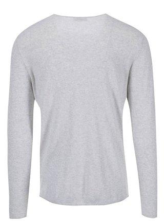 Béžový sveter so sivým žíhaním Selected Dome