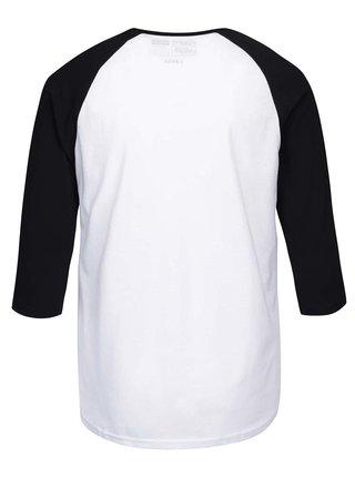 Čierno-biele pánske tričko s 3/4 rukávmi a potlačou VANS Classic