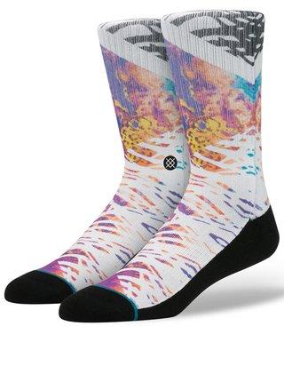 Černo-bílé pánské ponožky s barevným vzorem Stance Meld