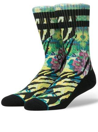 Zeleno-čierne pánske vzorované ponožky Stance Tiger Lily