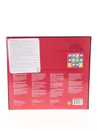 Červená darčeková kazeta čajov English Tea Shop Ozdoby