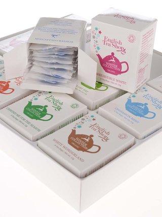 Biela darčeková kazeta čajov English Tea Shop Vianočná zima
