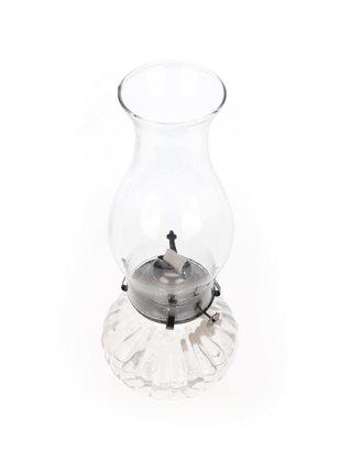 Skleněná zaoblená petrolejová lampa Dakls
