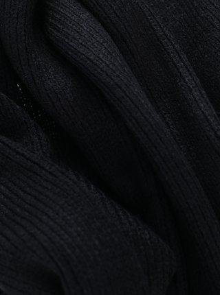 Čierny šál Jack & Jones Dna