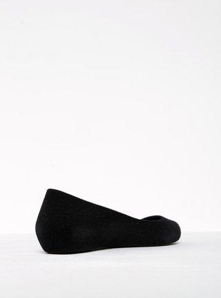 Čierne semišové baleríny Zaxy Pop Flocked