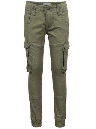 Zelené chlapčenské nohavice s vreckami name it Bamgo
